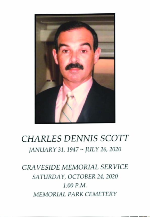 Graveside Memorial Service for Mr. Dennis Scott